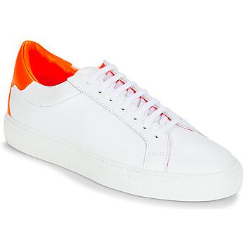 Buty Damskie Trampki niskie KLOM KEEP Biały / Pomarańczowy