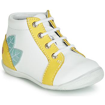 Buty Dziewczynka Trampki wysokie GBB FRANCKIE Biały / Żółty