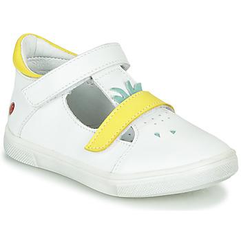 Buty Dziewczynka Baleriny GBB ARAMA BiaŁy-ŻÓŁty