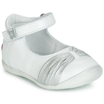 Buty Dziewczynka Baleriny GBB MALLA Biały / Srebrny
