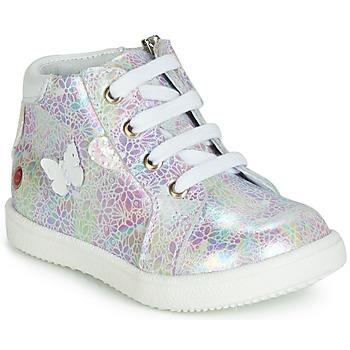 Buty Dziewczynka Trampki wysokie GBB MEFITA Biały / Różowy