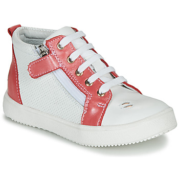 Buty Dziewczynka Trampki wysokie GBB MIMOSA Biały-koral