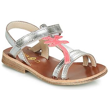 Buty Dziewczynka Sandały GBB SAPELA Srebrny / Różowy