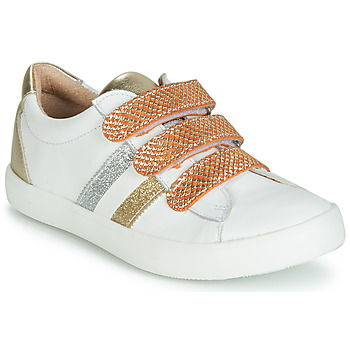Buty Dziewczynka Trampki niskie GBB MADO Biały / Złoty