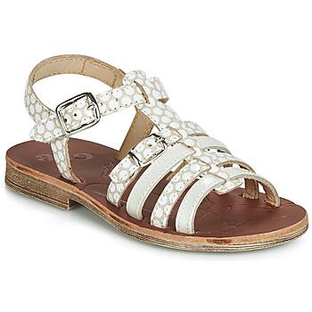 Buty Dziewczynka Sandały GBB BANGKOK Beżowy / Biały