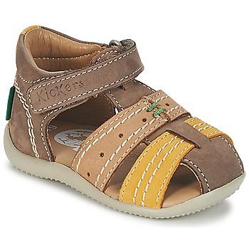 Buty Chłopiec Sandały Kickers BIGBAZAR Brązowy / Beżowy / żółty