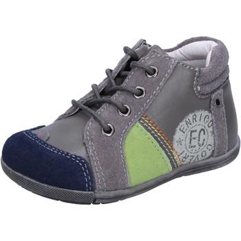 Buty Chłopiec Trampki niskie Enrico Coveri sneakers grigio camoscio pelle BX827 Grigio