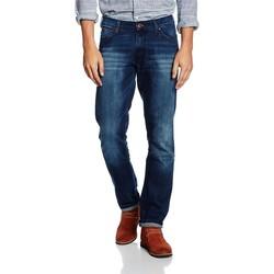 tekstylia Męskie Jeansy slim fit Wrangler ® Larston Blaze 18S8282T niebieski