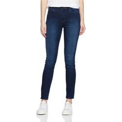 tekstylia Damskie Jeansy skinny Wrangler Jeansy  High Rise Skinny Subtle Blue W27HX786N granatowy