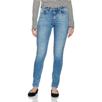 tekstylia Damskie Jeansy skinny Wrangler ® High Rise Skinny W27HX794O niebieski