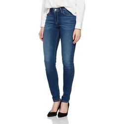 tekstylia Damskie Jeansy skinny Wrangler Jeansy ® Skinny Authentic Blue W28KX785U niebieski