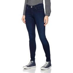 tekstylia Damskie Jeansy skinny Wrangler Jeansy  Super Skinny True Beauty W29JBV94Z granatowy