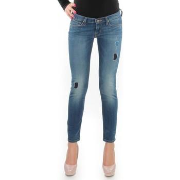 tekstylia Damskie Jeansy skinny Lee Jeansy  Lynn Skinny L357DNXA niebieski