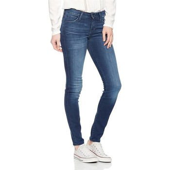tekstylia Damskie Jeansy slim fit Lee Jeansy  Scarlett Skinny L526AIFB niebieski