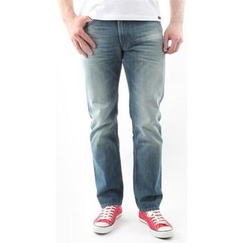 tekstylia Męskie Jeansy straight leg Lee Jeansy  Blake Worn Green L730DAUJ niebieski