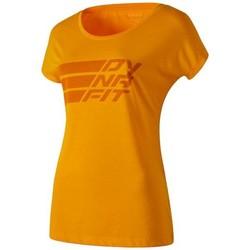 tekstylia Damskie T-shirty z krótkim rękawem Dynafit Compound Dri-Rel Co W S/s Tee 70685-4630 pomarańczowy