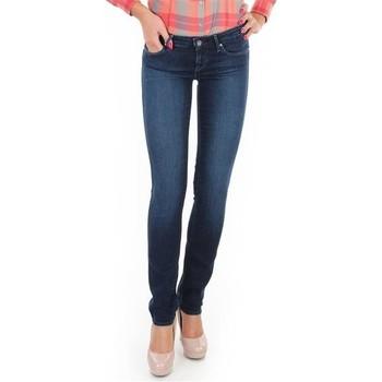 tekstylia Damskie Jeansy skinny Wrangler Jeansy  Skyline W26FX754R niebieski