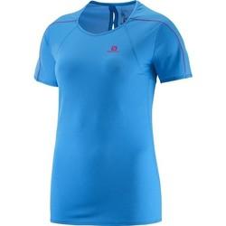 tekstylia Damskie T-shirty z krótkim rękawem Salomon Koszulka  Minim Evac Tee W 371146 niebieski
