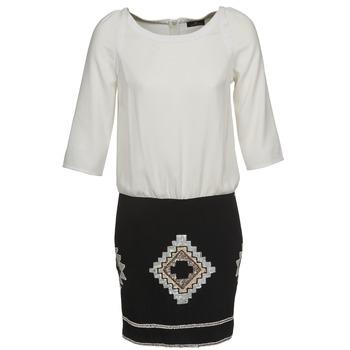 tekstylia Damskie Sukienki krótkie One Step RAMBOUTAN Biały / Czarny