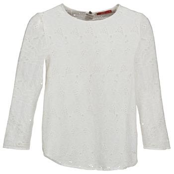 tekstylia Damskie T-shirty z długim rękawem Esprit VASTAN Biały