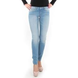 tekstylia Damskie Jeansy skinny Wrangler Jeansy  Caitlin Blue Baloo W24CH145X niebieski