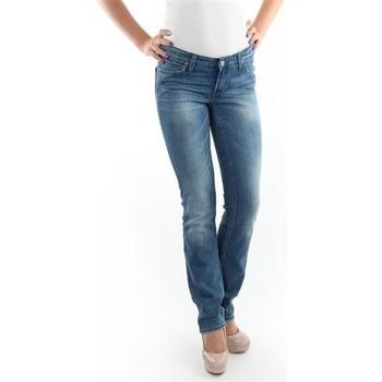 tekstylia Damskie Jeansy slim fit Lee Jeansy  Marlin Slim Straight L337OBDJ niebieski