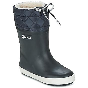 Buty Dziecko Śniegowce Aigle GIBOULEE Marine / Biały