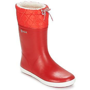 Buty Dziecko Śniegowce Aigle GIBOULEE Czerwony / Biały