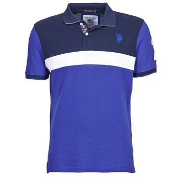 tekstylia Męskie Koszulki polo z krótkim rękawem U.S Polo Assn. REMY MARINE / Biały
