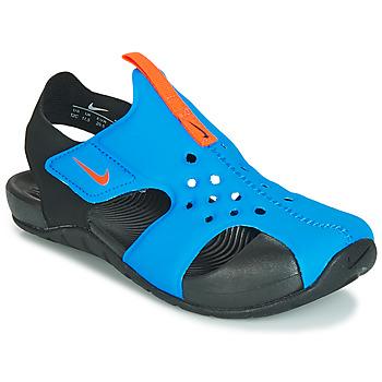 Buty Chłopiec Sandały Nike SUNRAY PROTECT 2 PS Czarny / Niebieski