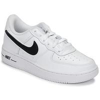 Buty Dziecko Trampki niskie Nike AIR FORCE 1-3 PS Biały / Czarny